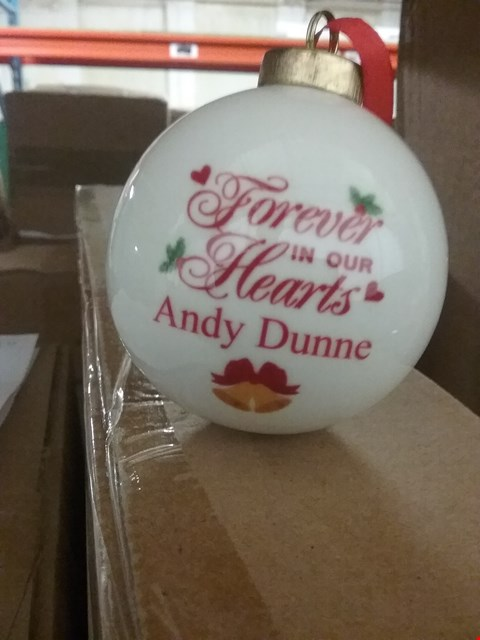 Lot 242 PERSONALISED FOREVER IN OUR HEARTS BAUBLE  RRP £17