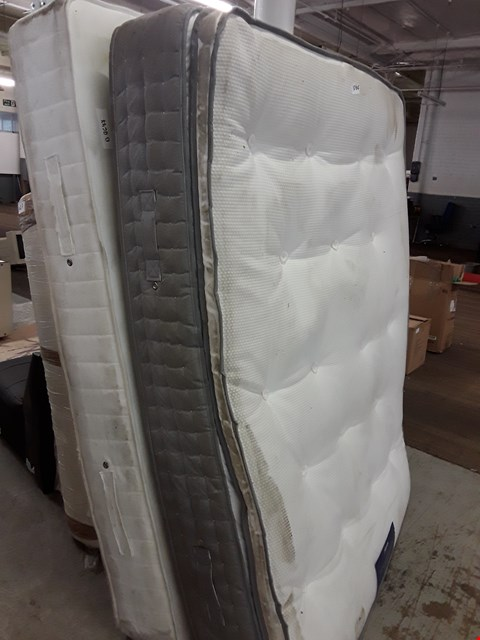 """Lot 1064 TWO UNBAGGED MATTRESSES, 4'6"""" DOUBLE MATTRESSES FOGARTY PREMIUM ORTHO 3500 POCKET & 4' UNBRANDED."""