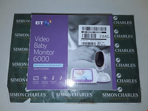 Lot 9302 BT VIDEO BABY MONITOR 6000 RRP £165.00