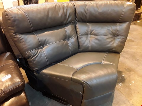Lot 522 GREY FAUX LEATHER CORNER SECTION WITH CONTRAST STITCHING