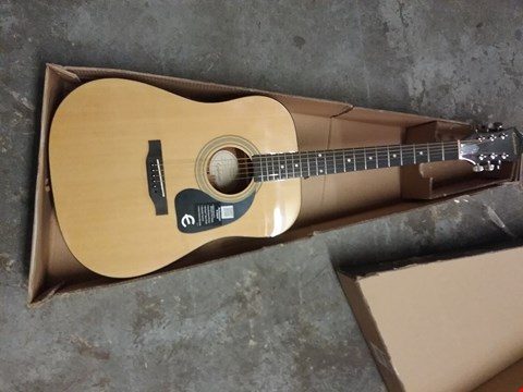 Lot 385 EPIPHONE DR-100 DREADNAUGHT ACOUSTIC GUITAR, NATURAL FINISH, MAHOGANY BODY, SELECT SPRUCE TOP, ROSEWOOD FINGERBOARD, 25.5 SCALE