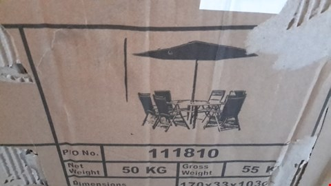 Lot 34 KINGFISHER 8 PIECE GREY PADDED PATIO FURNITURE SET