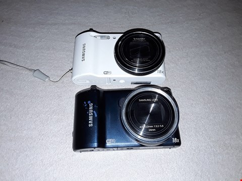 Lot 6009 LOT OF 2 UNBOXED SAMSUNG DIGITAL CAMERAS TO INCLUDE WB150F AND WB200F MODELS