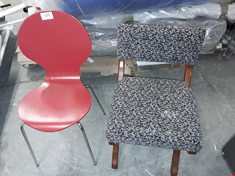 Lot 189 LOT OF 2 ASSORTED CHAIRS