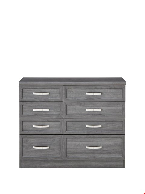 Lot 7090 BOXED GRADE 1 CAMBERLEY DARK OAK 4 DRAWER GRADUATED CHEST - 4 BOXES