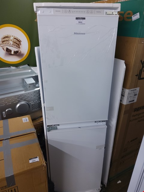 Lot 7053 HISENSE INTEGRATED FRIDGE FREEZER