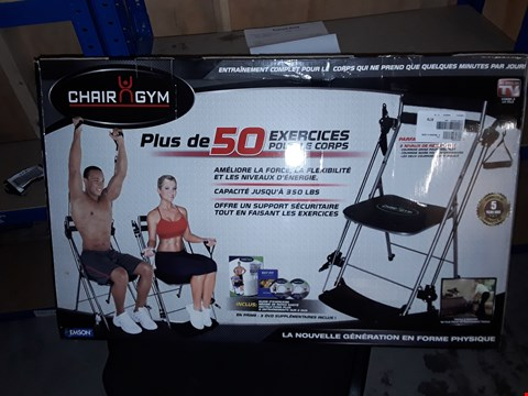Lot 950 BOXED CHAIR GYM TOTAL BODY EXERCISE MACHINE BLACK