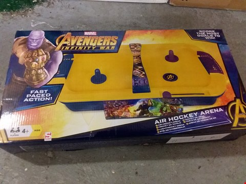 Lot 184 LOT OF 2 GRADE 1 ITEMS TO INCLUDE AVENGERS AIR HOCKEY ARENA, CHILDREN'S SCOOTER RRP £63