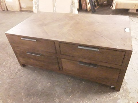 Lot 7020 DESIGNER WALNUT-EFFECT COFFEE TABLE