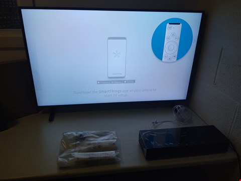 "Lot 160 BOXED SAMSUNG THE FRAME 43"" 4K TV WITH STAND, REMOTES AND ONE CONNECT BOX"