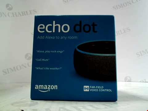 Lot 5607 AMAZON ECHO DOT ALEXA HOME AUTOMATION