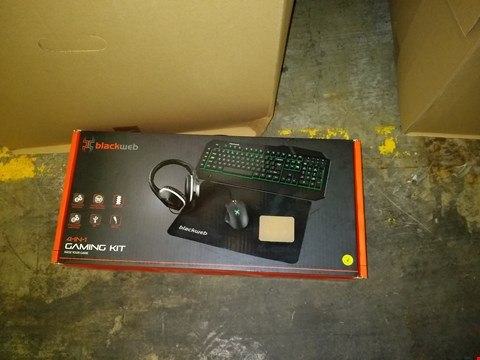 Lot 9012 BLACKWEB 4 IN 1 GAMING KIT INCLUDING KEYBOARD, MOUSE AND HEADPHONES