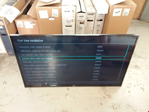 Lot 1055 LUXOR 50 INCH FULL HD FREEVIEW HD LED SMART TELEVISION MODEL LUX015008/01 REMOTE AND STAND RRP £500