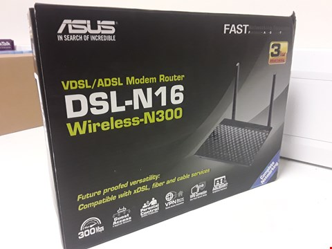 Lot 4545 BOXED ASUS DSL-N16 WIRELESS N300 MODEM ROUTER