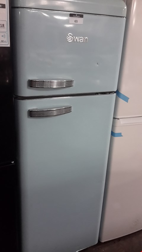 Lot 65 SWAN SR11010BN DUCK EGG BLUE RETRO STYLE FRIDGE FREEZER  RRP £649