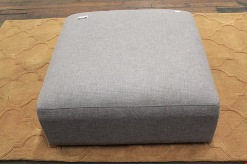 Lot 74 QUALITY DESIGNER GREY FABRIC LOTTIE SQUARE FOOTSTOLL RRP £429