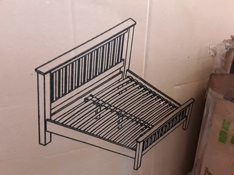 Lot 2169 BOXED AMSTERDAM 180CM HIGH FOOT END BED FRAME - WAXED OAK (3 BOXES)