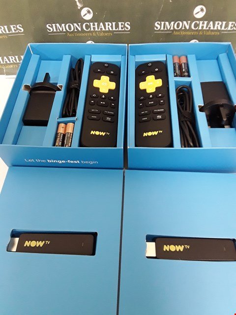 Lot 243 TWO BOXED NOW TV SMART STICKS