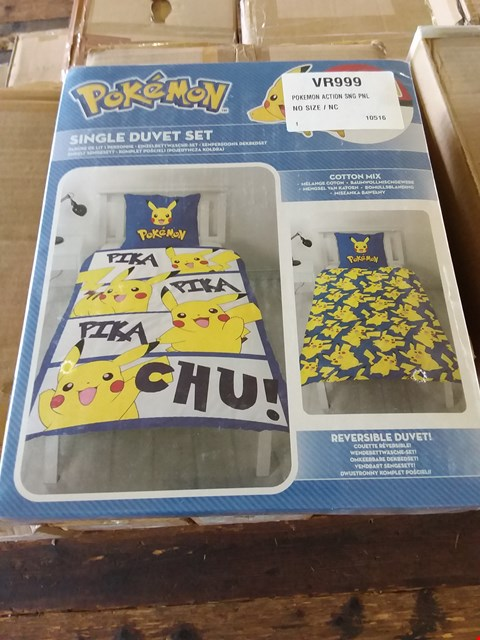 Lot 70 LOT OF 4 BOXES OF POKEMON ACTION DUVET SETS APPROX 24