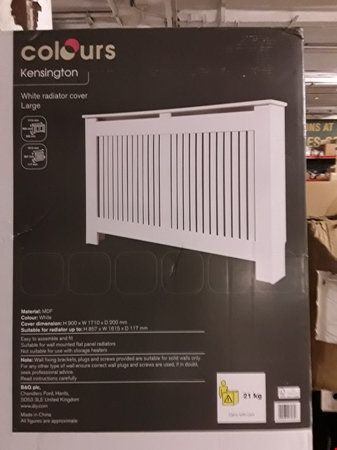 Lot 3184 COLOURS KENSINGTON LARGE WHITE RADIATOR COVER H900 X W1710 X D200 MM