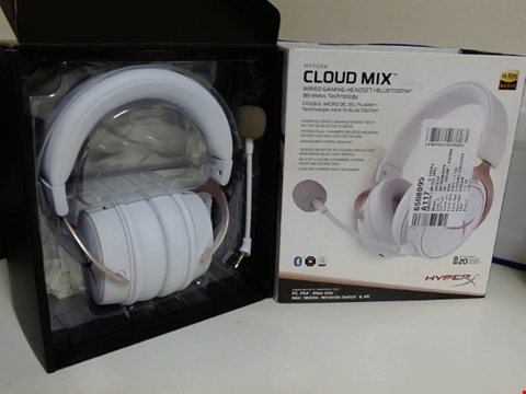 Lot 15267 HYPERX HX-HSCAM-RG/WW CLOUD MIX ROSE GOLD - WIRED AND BLUETOOTH GAMING HEADSET