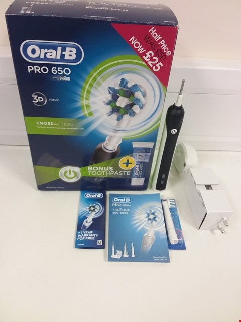 Lot 6149 BOXED ORAL B PRO 650 TOOTHBRUSH IN BLACK