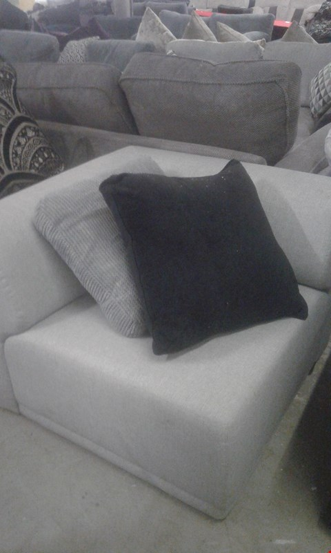 Lot 98 DESIGNER GREY FABRIC SOFA SECTION WITH CUSHIONS