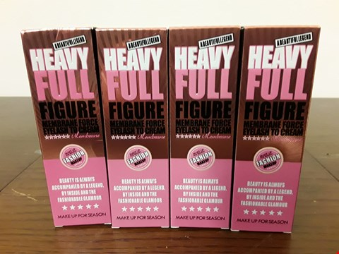 Lot 8086 LOT OF 4 HEAVY FULL FIGURE MEMBRANE FORCE EYELASH TO CREAM