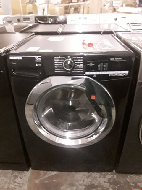 Lot 20 HOOVER DYNAMIC NEXT 10KG 1400 SPIN WASHING MACHINE IN BLACK WITH ONE TOUCH