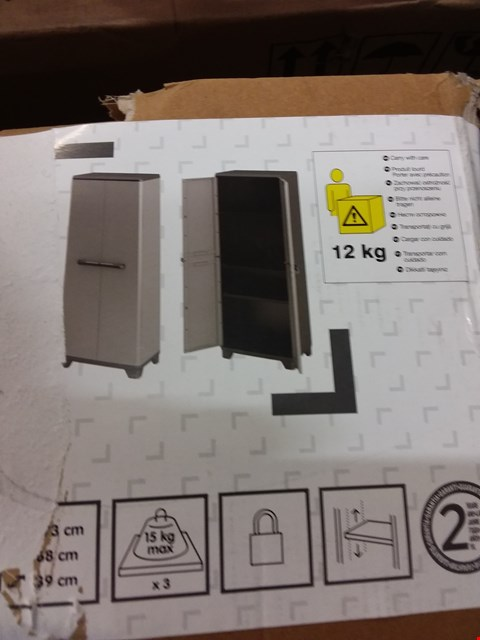 Lot 484 BOXED DARK GREY/BLACK HIGH STORAGE CABINET RRP £45