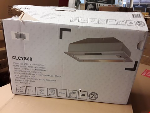 Lot 38 CLCYS60 STAINLESS STEEL CANOPY HOOD RRP £58