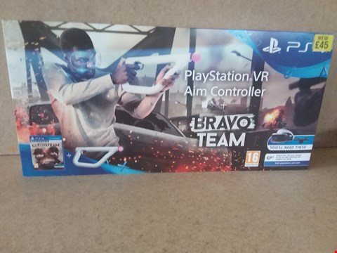 Lot 51 BRAND NEW BOXED PLAYSTATION VR AIM CONTROLLER + BRAVO TEAM FOR PS4