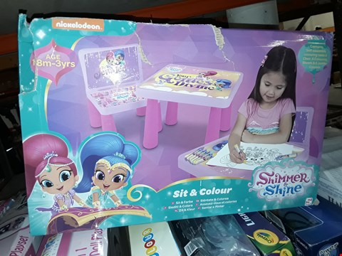 Lot 6079 BOXED GRADE 1 SHIMMER AND SHINE COLOURING TABLE  RRP £30.00