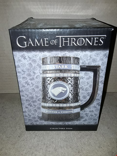 Lot 174 BOXED BRAND NEW GAME OF THRONES COLLECTABLE STEIN