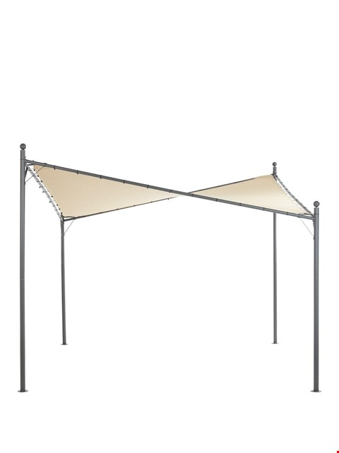 Lot 2496 BUTTERFLY SAIL CREAM SHOWERPROOF GAZEBO (NO FRAME) RRP £130