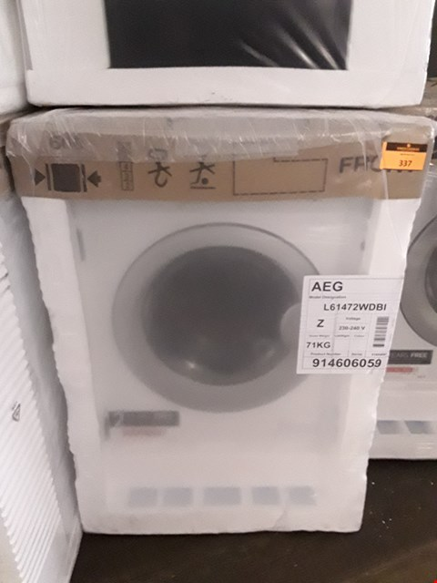Lot 337 AEG L61472WDBI INTEGRATED 7KG / 4KG WASHER DRYER 1400 RPM