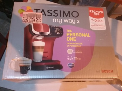Lot 2778 BOSCH TASSIMO COFFEE MACHINE IN RED