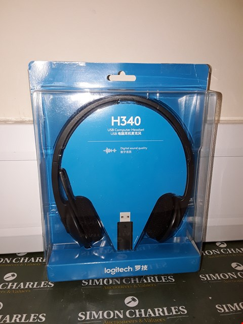 Lot 4655 BOXED LOGITECH H340 USB COMPUTER HEADSET