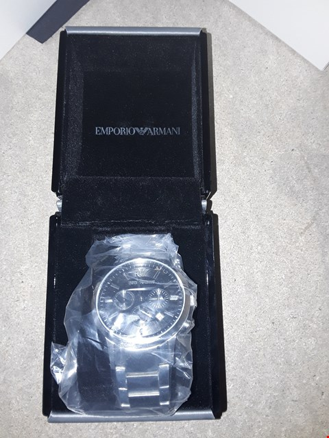 Lot 7199 BOXED GRADE 1 EMPORIO ARMANI STAINLESS STEEL WATCH RRP £490