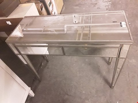 Lot 7012 DESIGNER MIRRORED TWO-DRAWER HALL TABLE