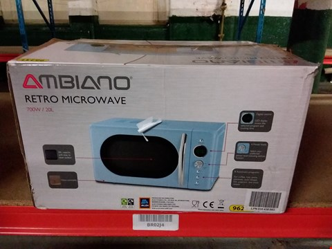 Lot 104 AMBIANO 700W RETRO MICROWAVE - BLACK