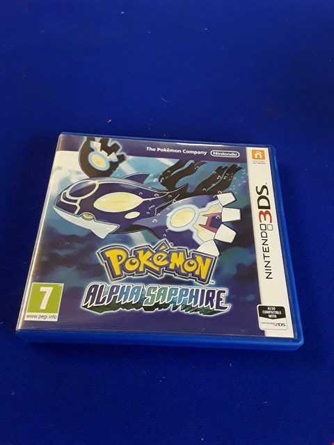 Lot 7610 POKEMON ALPHA SAPPHIRE NINTENDO 3DS GAME