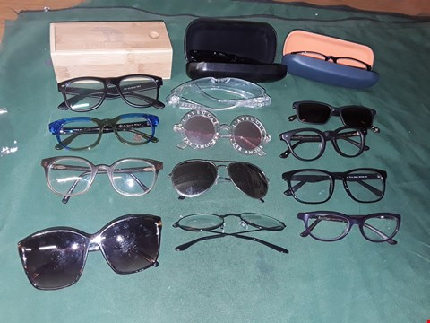Lot 4250 BOX OF ASSORTED GLASSES, SUN GLASSES AND GLASSES CASES