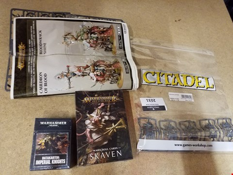 Lot 2031 4 ITEMS TO INCLUDE A WARSCROLL SKAVEN AND A SPACE MARINE JUMP PACKS