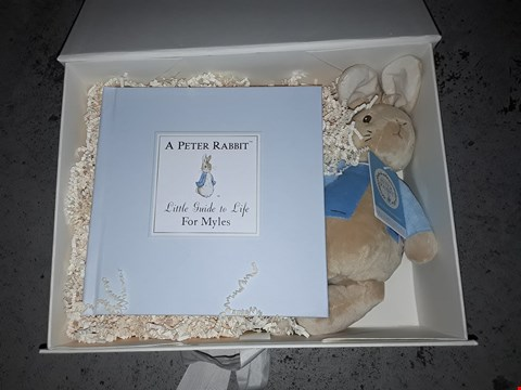 Lot 634 GRADE 1 PERSONALISED PETER RABBIT GUIDE TO LIFE GIFT BOX  RRP £51.00