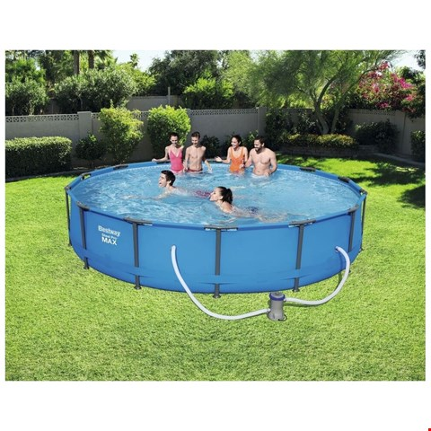 Lot 7139 BOXED BESTWAY 14' STEEL PRO MAX POOL