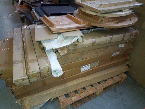 Lot 10219 PALLET OF ASSORTED TABLES AND BENCHES TO INCLUDE 8 SEATER PICNIC BENCH