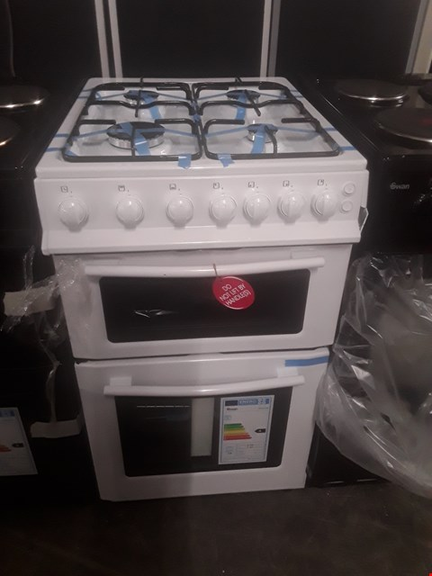 Lot 67 SWAN SX2071W WHITE DOUBLE OVEN GAS COOKER RRP £300