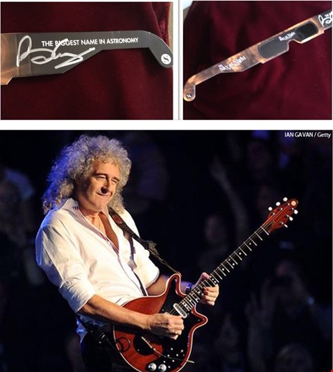 Lot 5 SIGNED PAIR OF ECLIPSE SHADES DONATED AND WORN BY BRIAN MAY