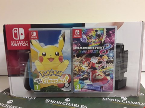 Lot 2393 NINTENDO SWITCH CONSOLE WITH NEON BLUE/RED JOY CONS RRP £469.00